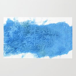 Blue Jeans abstract watercolor Rug