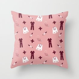 Medical Professional Pattern Throw Pillow