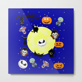 Halloween Festival Monster at night Metal Print