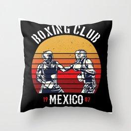 Boxing Club Mexico Gift Idea Design Motif Throw Pillow