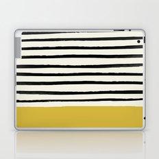 Mustard Yellow & Stripes Laptop & iPad Skin