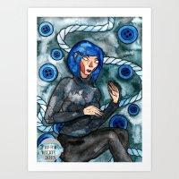 coraline Art Prints featuring Coraline by Jazmine Phillips