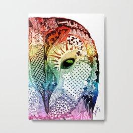 'Ancient Eye' Multi-Colour Metal Print