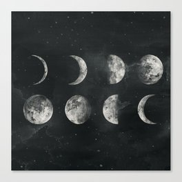 Moon Phase Canvas Print