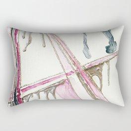drip in gold Rectangular Pillow