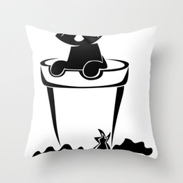 Silhouette In The Flower Pot Throw Pillow
