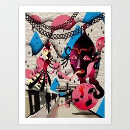 Ugly Mountain Detonation II Art Print