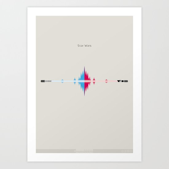 Moviesound: Star wars Art Print