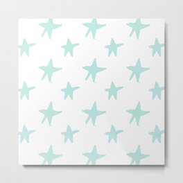 Baby blue stars Metal Print