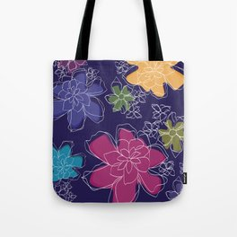 Floral - #Bright #Flowers #Abstract #Pattern Tote Bag