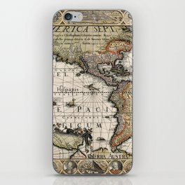 Map Of America 1614 iPhone Skin