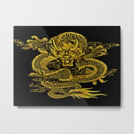 Epic Dragon Yellow Metal Print