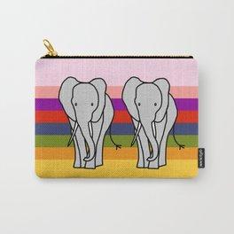 Big Elephant on a Rainbow Carry-All Pouch