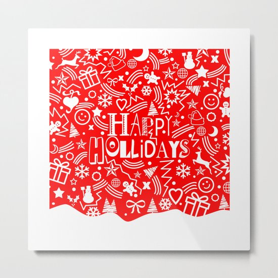 Happy Holidays Metal Print