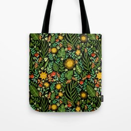 Sunshine Botanical - Dark Version Tote Bag