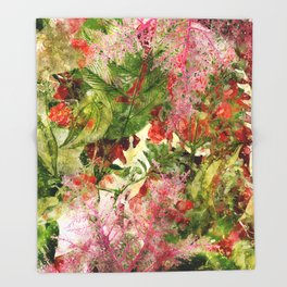 flowers pattern 32 #flowers #flora #pattern Throw Blanket