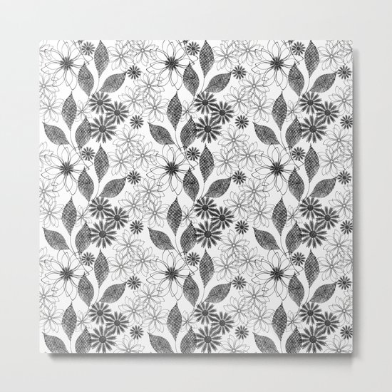 Flowers on a white background. Metal Print