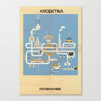 argentina Canvas Prints featuring Argentina by federico babina