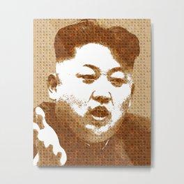 Scrabble Kim Jong Un Metal Print