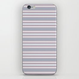 Mauve Blue Stripes iPhone Skin