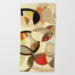 Mod art, circle art, Mid Century Modern Beach Towel