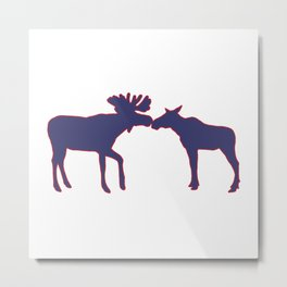 Graphic US Silhouette Moose 05 Metal Print