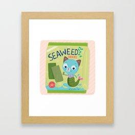 Purrmaid Seaweed Snacks Framed Art Print