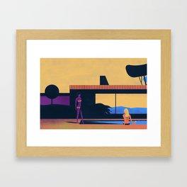 la piscine Framed Art Print