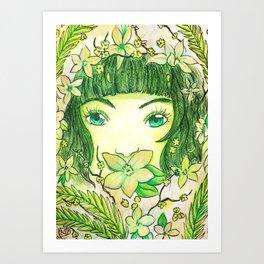 Colour Theme - Green Art Print