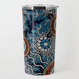 Aboriginal Art – Camping Travel Mug