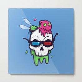 Skull Bunk Metal Print