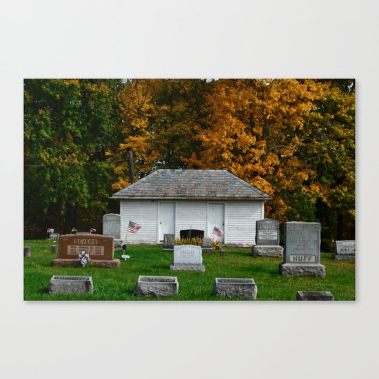 Alexandria Cemetery  Canvas Print