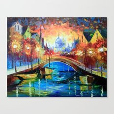 Evening Amsterdam Canvas Print