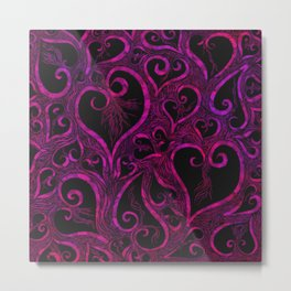 Tendrils of Love xoxo Pink and purple Metal Print