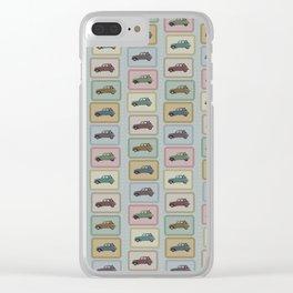 A Citroën 2CV pattern Clear iPhone Case