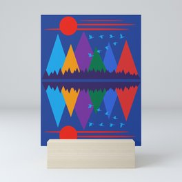 Mountain Scene #7 Mini Art Print