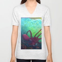 Grasping from the Deep Unisex V-Neck