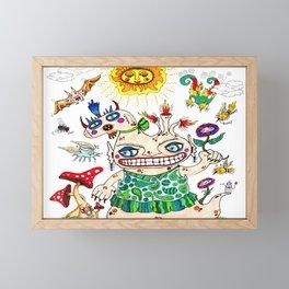 She-Beast and Friends Framed Mini Art Print
