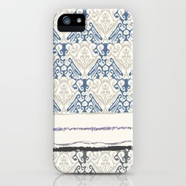 Indonesian batik print iPhone Case