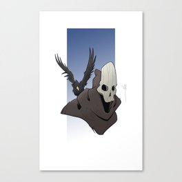 The Skull and the Raven Canvas Print