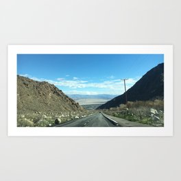 Mountain Road in Palm Springs California Kunstdrucke