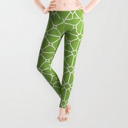 Fresh Green Tile Pattern Leggings