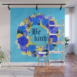 Flower wreath | Be kind Wall Mural