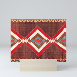 Aksaray Cappadocian Central Anatolia Kilim Print Mini Art Print