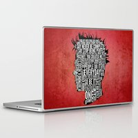 tyler durden Laptop & iPad Skins featuring Typography Tyler Durden Uncensored by Adam Grey