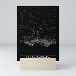 Santa Barbara Black Map Mini Art Print