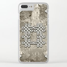 Wonderful celtic knot Clear iPhone Case