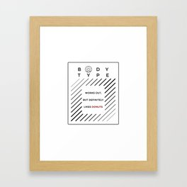 Works Out Loves Donuts Framed Art Print