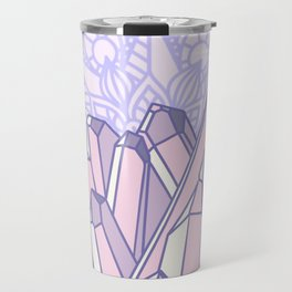 Crystals with Mandala 2 Travel Mug