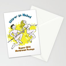 Naked rowing, let's go! Stationery Cards